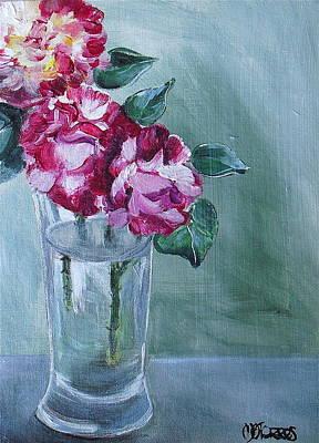 George Burns Roses Art Print by Melissa Torres