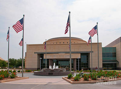George Bush Digital Art - George Bush Presidential Library by Mae Wertz