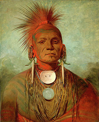 George Catlin, See-non-ty-a, An Iowa Medicine Man Art Print by Litz Collection