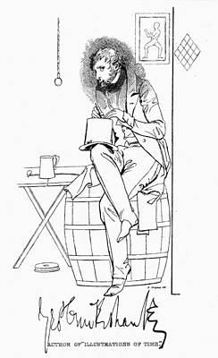 Autographed Drawing - George Cruikshank(1792-1878) by Granger