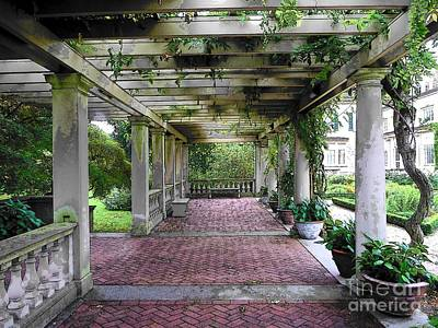 Photograph - George Eastman Home Pergola Rochester Ny  by Jodie Marie Anne Richardson Traugott          aka jm-ART