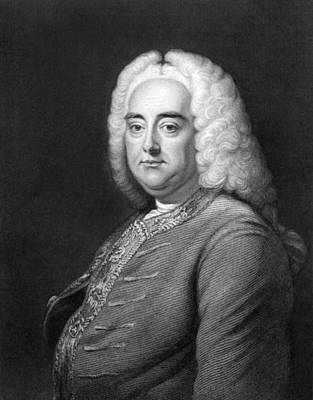 George Frederic Handel Art Print by Underwood Archives
