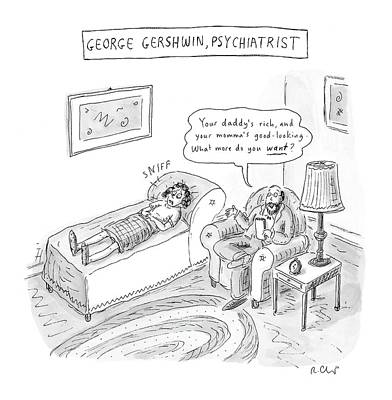 Song Drawing - 'george Gershwin by Roz Chast