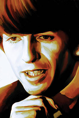 The Beatles Art Painting - George Harrison Artwork by Sheraz A