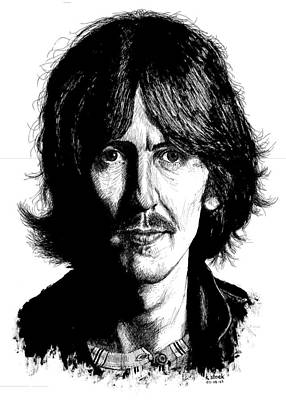 George Harrison Art Drawing - George Harrison by Kenneth Stock