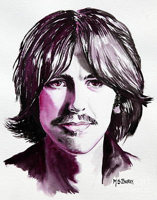 Painting - George Harrison by Maria Barry