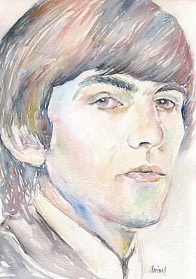 Miles Davis Oil Painting - George Harrison by Marina Sotiriou