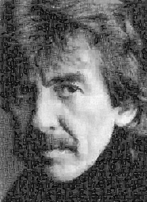 George Harrison Mosaic Image 6 Art Print by Steve Kearns