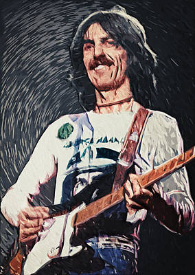 Gretsch Painting - George Harrison by Taylan Apukovska