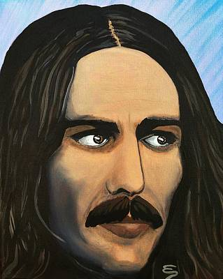 Painting - George Harrison The Mystic by Edward Pebworth