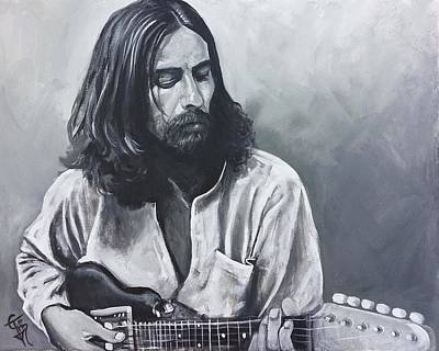 Harrison Painting - George Harrison by Tom Carlton