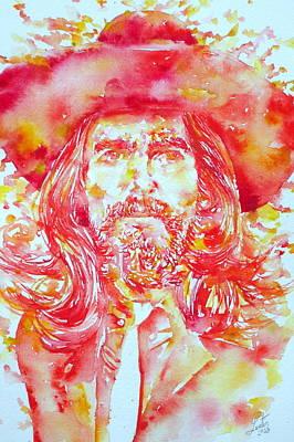 George Harrison With Hat Art Print by Fabrizio Cassetta