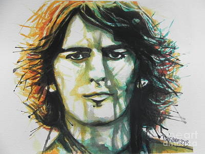 Music Paintings - George Harrison 01 by Chrisann Ellis