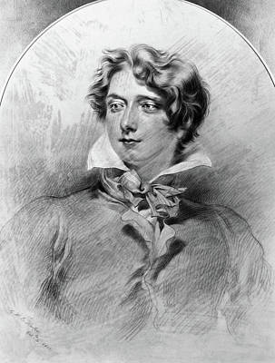 Self-portrait Drawing - George Henry Harlow (1787-1819) by Granger