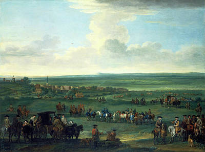 George I At Newmarket, 4 Or 5 October, 1717 Race Meeting Art Print by Litz Collection