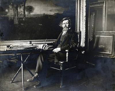 Painting - George Inness Self Portrait by Celestial Images