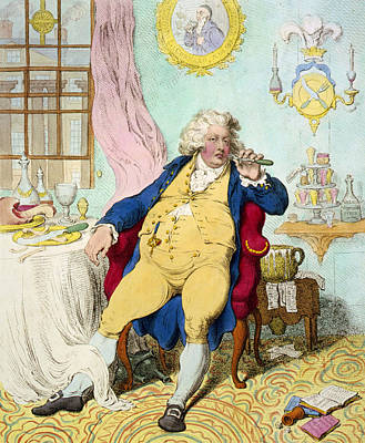 Aristocrat Drawing - George Iv by James Gilray