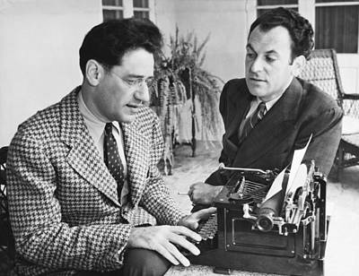 Typewriter Photograph - George Kaufman And Moss Hart by Underwood Archives