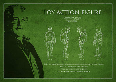 George Lucas Patent 1979 Art Print by Aged Pixel