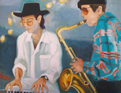 Painting - George Michalski And Vince Wallace by Suzanne Cerny