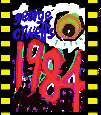 George Orwell's 1984 Poster  Original by Paul Sutcliffe