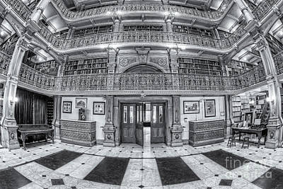 Photograph - George Peabody Library Vi by Clarence Holmes