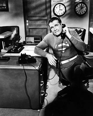 George Reeves In Adventures Of Superman  Art Print by Silver Screen