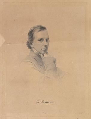Stippling Drawing - George Richmond - Self-portrait by After George Richmond