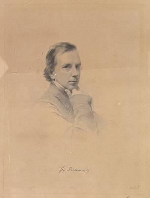 Stipple Drawing - George Richmond - Self-portrait by After George Richmond