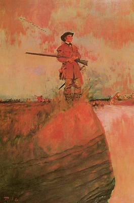 George Rogers Clark On His Way To Kaskaskia Print by Howard Pyle