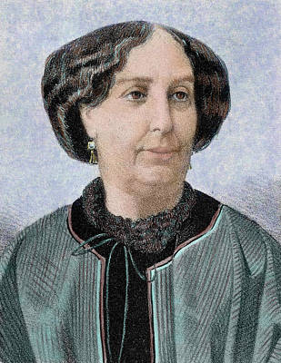 George Sand, Pseudonym Of Aurore Dupin Print by Prisma Archivo
