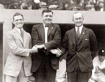 George Sisler Babe Ruth Ty Cobb Art Print by Unknown
