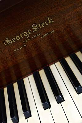 Photograph - George Steck Piano by Joan Reese