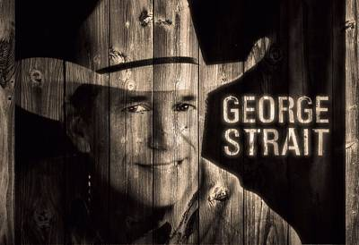 George Strait Barn Door Art Print by Dan Sproul