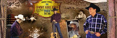 Stars Photograph - George Strait Cowboy Rides Away by Retro Images