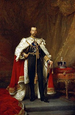 Painting - George V, King Of England by Science Source