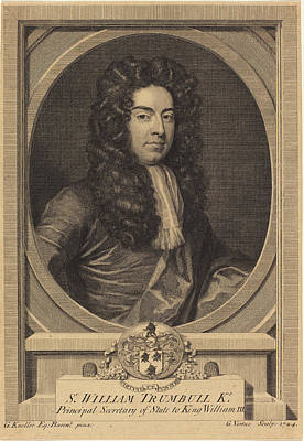 Kneller Drawing - George Vertue After Sir Godfrey Kneller English by Quint Lox
