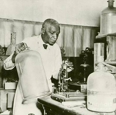 George Washington Carver Photograph - George W. Carver, Us Agriculturalist by Schomburg Center For Research In Black Culture