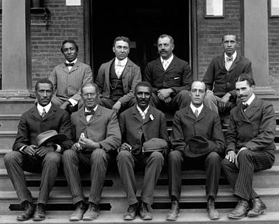 George Washington Carver Photograph - George W. Carver With Staff, 1902 by Science Source