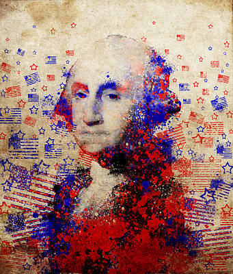 George Washington Digital Art - George Washington 3 by Bekim Art