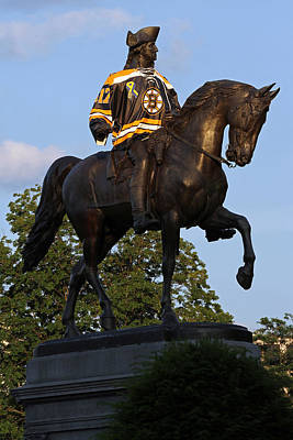 Photograph - George Washington A True Boston Bruins Fan by Juergen Roth