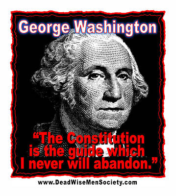Digital Art - George Washington And The Constitution by K Scott Teeters