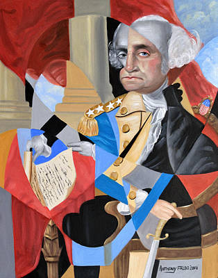 Politicians Royalty-Free and Rights-Managed Images - George Washington by Anthony Falbo