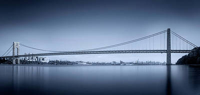 Blue Water Bridge Photograph - George Washington Bridge by