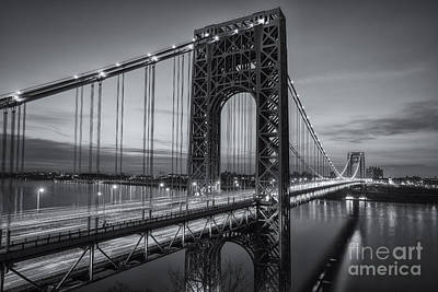 Photograph - George Washington Bridge Morning Twilight II by Clarence Holmes