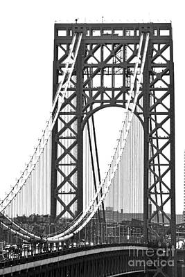 Politicians Royalty-Free and Rights-Managed Images - George Washington Bridge NJ Tower by Regina Geoghan