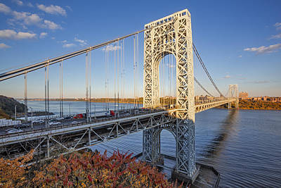 Little Red River Photograph - George Washington Bridge Nyc by Susan Candelario