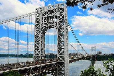 Politicians Royalty-Free and Rights-Managed Images - George Washington Bridge by Regina Geoghan