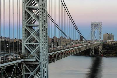 George Washington Bridge Sundown  Original by Susan Candelario