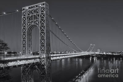 Photograph - George Washington Bridge Twilight II by Clarence Holmes